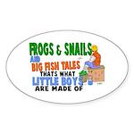 Frogs & Snails Oval Sticker