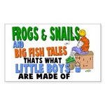 Frogs & Snails Rectangle Sticker
