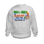 Frogs & Snails Kids Sweatshirt