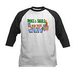 Frogs & Snails Kids Baseball Jersey