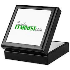 Feminist Looks Like Keepsake Box