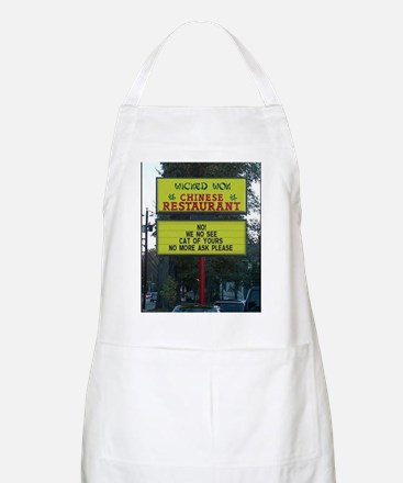 WICKED WOK - CHINESE RESTAURANT SIGN Apron