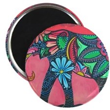 Psychedelic Elephant Magnet