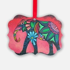 Psychedelic Elephant Ornament