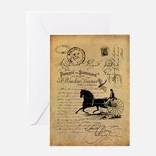 Shabby French Cottage - Antique Greeting Card
