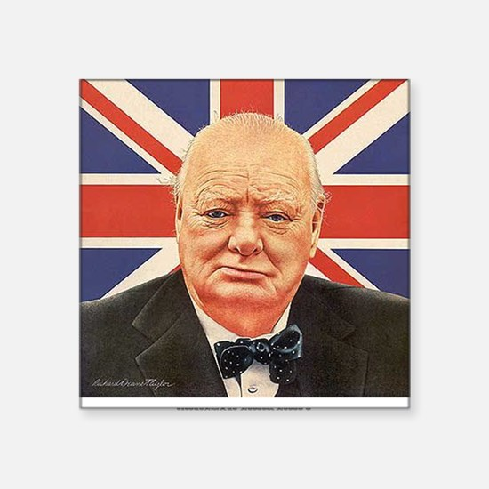"WINSTON CHURCHILL Square Sticker 3"" x 3"""