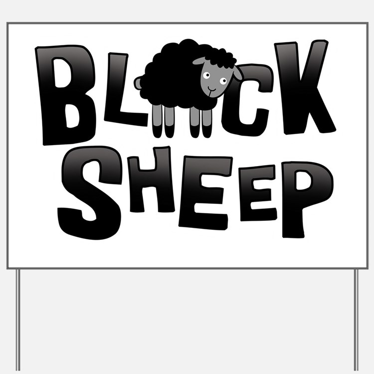 Black Sheep Dark Yard Sign