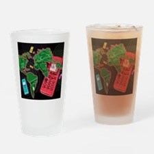 Conceptual image of global communic Drinking Glass