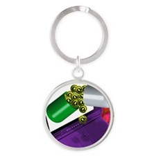 Conceptual image of e-mail or inter Round Keychain