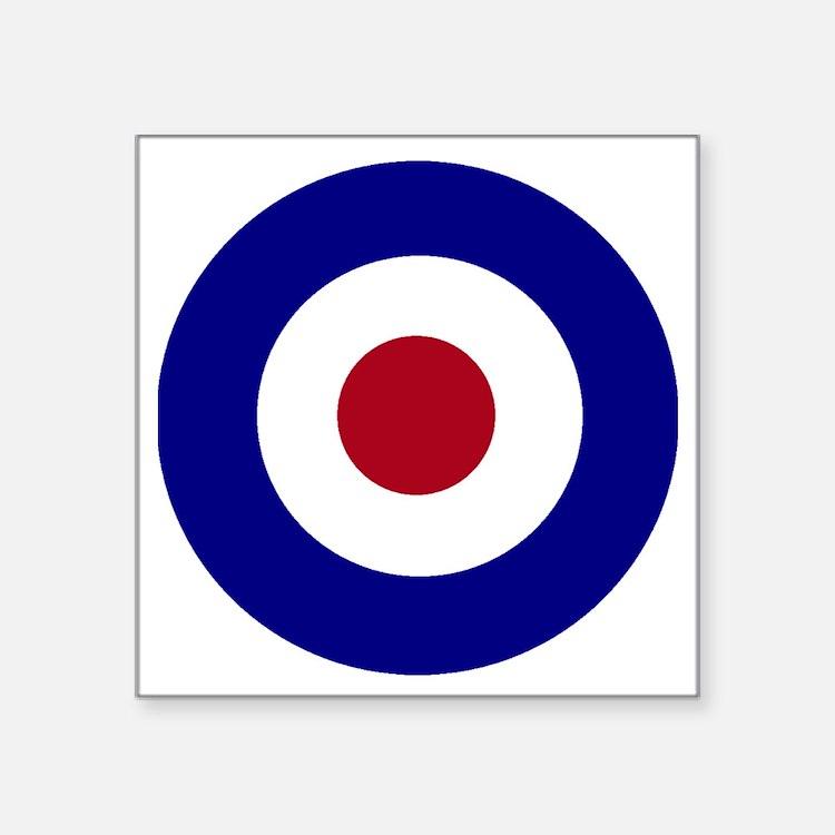 """British Bullseye Square Sticker 3"""" x 3"""""""