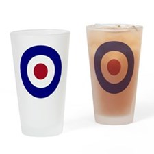 British Bullseye Drinking Glass
