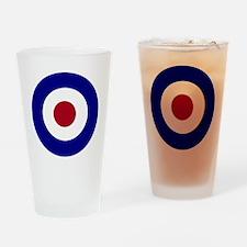 British Bullseye Drinking Glass