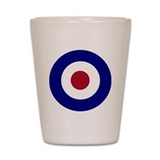 British Bullseye Shot Glass