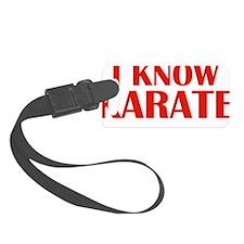 knowKarateWords1E Luggage Tag