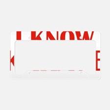 knowKarateWords1E License Plate Holder