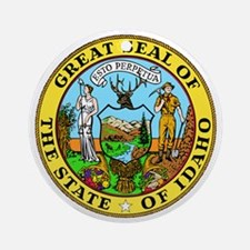 Great Seal of Idaho Round Ornament