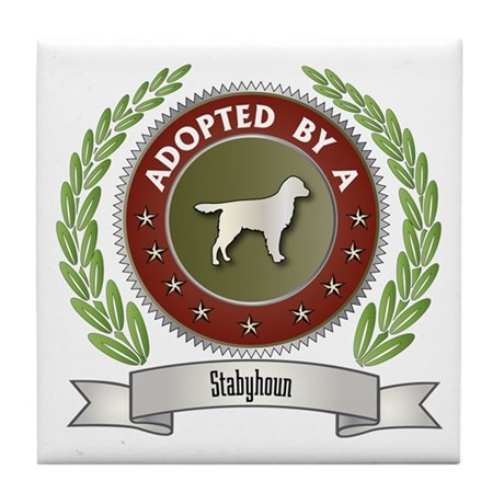 Stabyhoun Adopted Tile Coaster