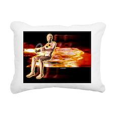 Crash test dummy Rectangular Canvas Pillow