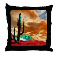 Crashed alien spacecraft Throw Pillow