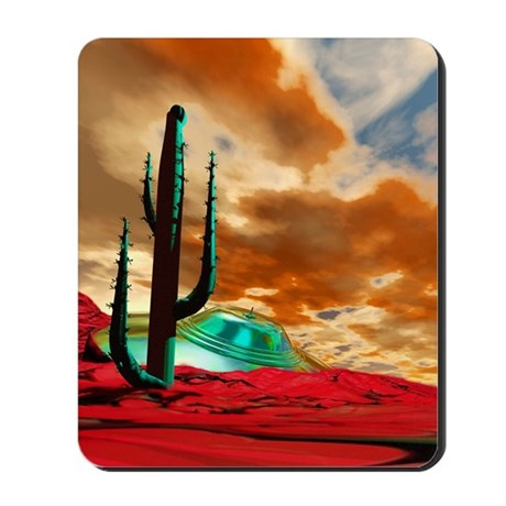 Crashed alien spacecraft Mousepad