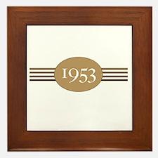 1953 Authentic Original Framed Tile