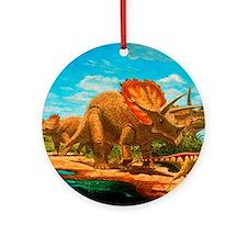 Cretaceous dinosaurs Round Ornament