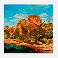 Cretaceous dinosaurs Tile Coaster