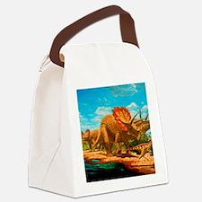 Cretaceous dinosaurs Canvas Lunch Bag