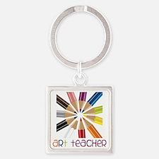 Art Teacher Square Keychain