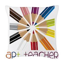 Art Teacher Woven Throw Pillow
