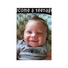 Baby Teen Rectangle Magnet