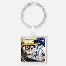Cosmonaut training, Soyuz TMA-8 cr Square Keychain