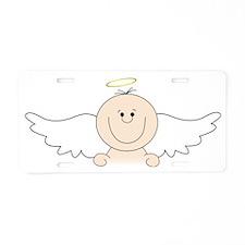 Little Angel Aluminum License Plate