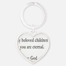 Beloved Children Heart Keychain