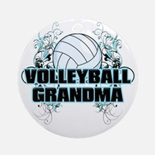 Volleyball Grandma (cross) Round Ornament