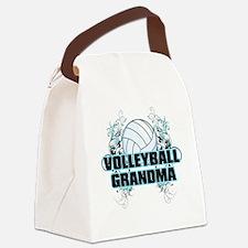 Volleyball Grandma (cross) Canvas Lunch Bag