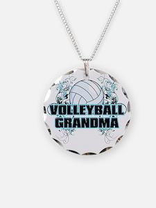 Volleyball Grandma (cross) Necklace
