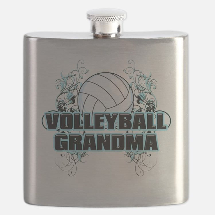 Volleyball Grandma (cross) Flask