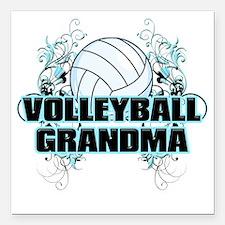 "Volleyball Grandma (cros Square Car Magnet 3"" x 3"""