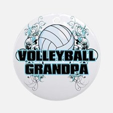 Volleyball Grandpa (cross) Round Ornament