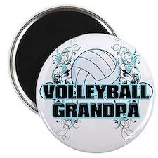Volleyball Grandpa (cross) Magnet