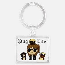 Pug Life Landscape Keychain