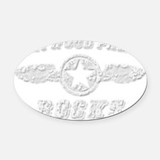MAYWOOD PARK ROCKS Oval Car Magnet