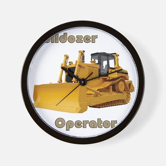 Bulldozer Operator Wall Clock