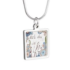 Each Day Silver Square Necklace