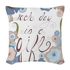 Each Day Woven Throw Pillow