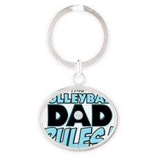 This Volleyball Dad Rules Oval Keychain