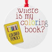 Coloring Book Ornament