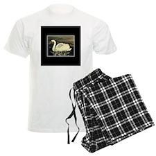 Bordered Swan Pajamas