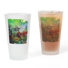 Lillies Collage Drinking Glass